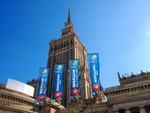дворец Польша warsaw fanzone культуры Стоковые Изображения RF