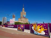 дворец Польша warsaw fanzone культуры Стоковое Изображение RF