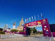 дворец Польша warsaw fanzone культуры Стоковые Фотографии RF