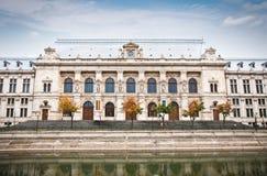 Дворец правосудия в старом городке в Бухаресте, Румыния стоковые фотографии rf