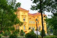 Дворец президента в Ханое Стоковое Изображение RF