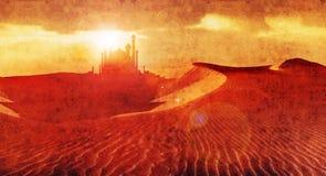 Дворец 3 пустыни иллюстрация штока