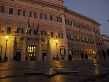 Дворец Рима Montecitorio стоковые изображения