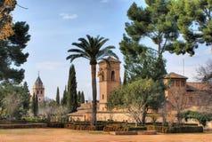 Дворец & сады Альгамбра в гранате Стоковое Изображение