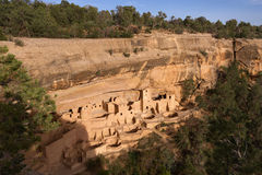 Дворец скалы, национальный парк мезы Verde Стоковое Изображение RF
