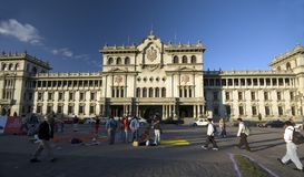 дворец соотечественника Гватемалы города Стоковое фото RF