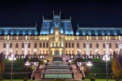 Дворец строения культуры в Iasi, Румынии Красивый ориентир ориентир архитектуры построенный в 1906-1925 причаленный взгляд корабл Стоковые Изображения RF