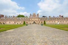 Дворец Фонтенбло в Франции Стоковое фото RF