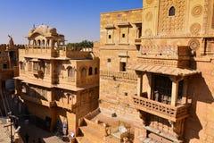 Дворец форта Jaisalmer в западной Индии Стоковое Фото
