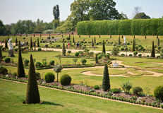 Дворец Хэмптона Корта и сады, Великобритания Стоковые Изображения RF