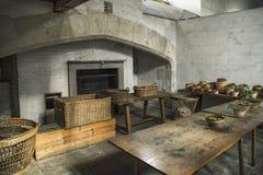 Дворец Хэмптона Корта, королевская кухня Стоковое Изображение