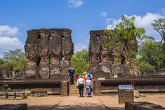 Дворец Шри-Ланка древнего города Polonnaruwa королевский стоковые изображения