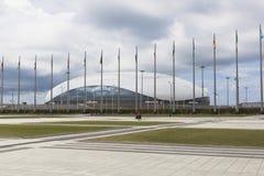 Дворец льда большой в парке Сочи олимпийском Стоковые Фото