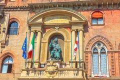 Дворец Accursio Bologne стоковые фотографии rf