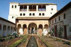 дворец alhambra Стоковые Фото