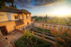 дворец alhambra Стоковое Изображение