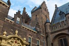 Дворец Binnenhof, Гаага, Нидерланды, внешние детали Стоковые Фото