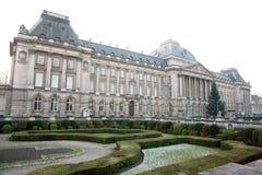 дворец bruxelles королевский стоковые изображения rf