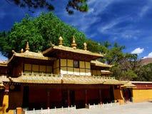 Дворец Budda в Тибете Стоковое Изображение RF