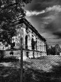 Дворец Cantacuzino, FloreÈ™ti, Румыния - драматический тон black&white Стоковые Изображения RF
