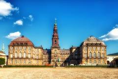 Дворец Christiansborg парламента Копенгагена Folketing стоковое изображение rf