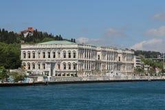 Дворец Ciragan в городе Стамбула, Турции Стоковое фото RF