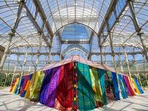 Дворец Cristal в Мадриде Стоковые Фотографии RF