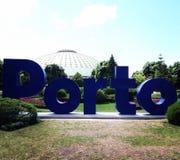 Дворец Cristal в Порту Отключение города в Порту Весна 2017 стоковое фото rf