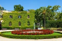 Дворец Desvalls на парке лабиринта в Барселоне. Стоковая Фотография