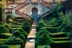 Дворец Desvalls на парке лабиринта в Барселоне Стоковые Фотографии RF
