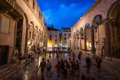 Дворец Diocletian - разделение, Хорватия Стоковые Изображения RF