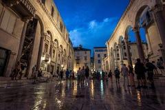 Дворец Diocletian - разделение, Хорватия Стоковое фото RF