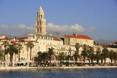 Дворец Diocletian, разделенный портовый район Стоковое Фото
