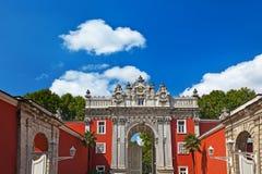 Дворец Dolmabahce на Стамбуле Турции Стоковое Изображение