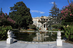 дворец dolmabahce стоковое изображение