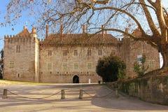 Дворец Duques Braganca Guimaraes Португалия стоковые изображения