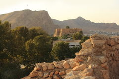 Дворец Falak-ol-Aflak в городе Khorramabad, Иране стоковые фото