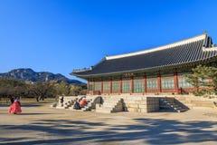 Дворец Geyongbokgung стоковая фотография rf