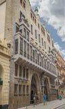 Дворец Guell конструировал Антонио Gaudi, в Барселоне, Испания стоковая фотография rf