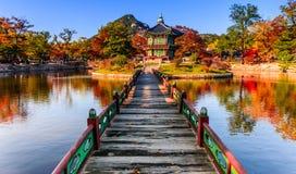 Дворец Gyeongbokgung в Сеуле, Корее Стоковое Изображение