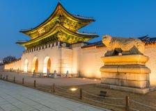 Дворец Gyeongbokgung в Сеуле, Корее Стоковые Изображения