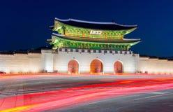 Дворец Gyeongbokgung в Сеуле, Корее Стоковая Фотография