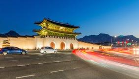 Дворец Gyeongbokgung в Сеуле, Корее Стоковые Изображения RF