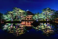 Дворец Gyeongbokgung на ноче в Сеуле Стоковая Фотография