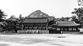 Дворец Gyeongbokgung, Сеул Традиционная корейская архитектура стоковые изображения