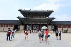 Дворец Gyeongbokgung, СЕУЛ, ЮЖНАЯ КОРЕЯ Стоковое Изображение RF