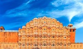 Дворец Hawa Mahal в Индии, Раджастхане, Джайпуре. Дворец ветров стоковое фото