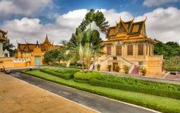 дворец hdr Камбоджи королевский Стоковые Изображения