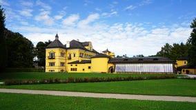 Дворец Hellbrunn и парк Стоковое Изображение