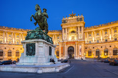 Дворец Hofburg в вене, Австрии стоковая фотография rf